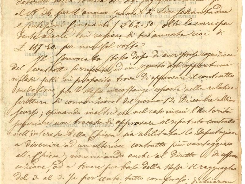 Processo del convocato generale del Comune 1836