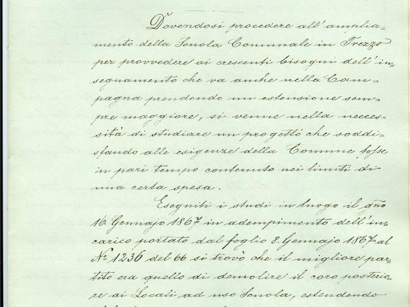 Progetto Giacomo Medici 1869