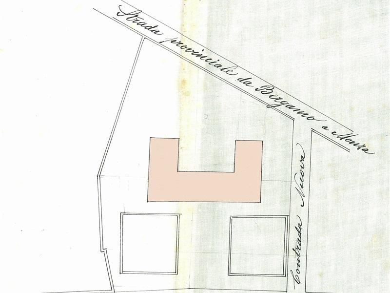 Progetto di massima del fabbricato delle Scuole particolare dalla planimetria