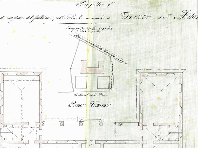 Progetto di massima del fabbricato delle Scuole planimetria