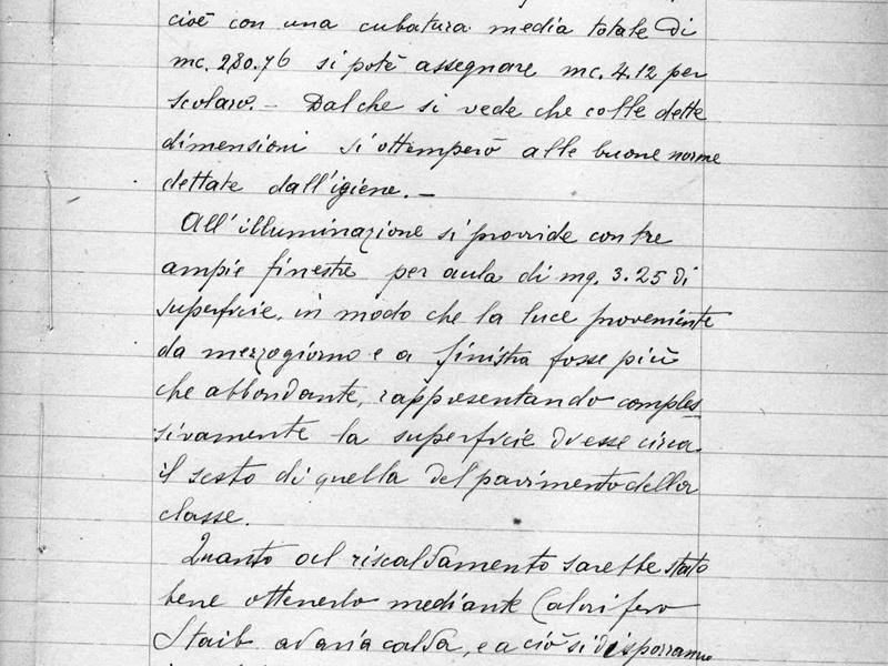 Relazione progetto scuole 1898