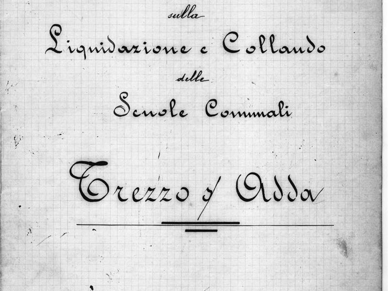 Relazione liquidazione e collaudo 1899