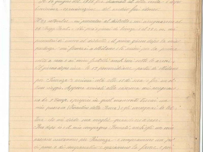 Diario 'Piccole Memorie' del soldato Giuseppe Edoardo Lecchi