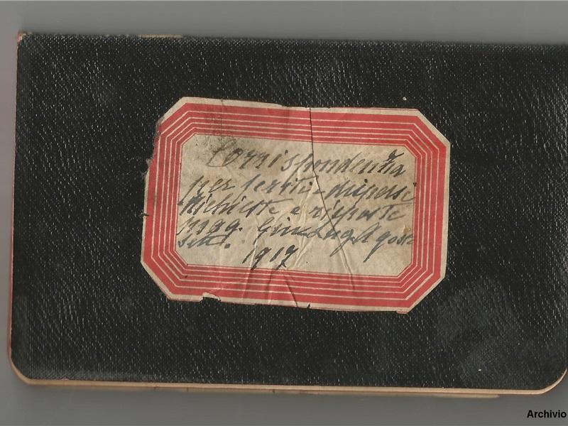Taccuino 'Corrispondenza per feriti e dispersi', 1917