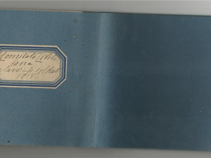 Taccuino 'Comitato Civile - Lana e lavori per soldati', 1915