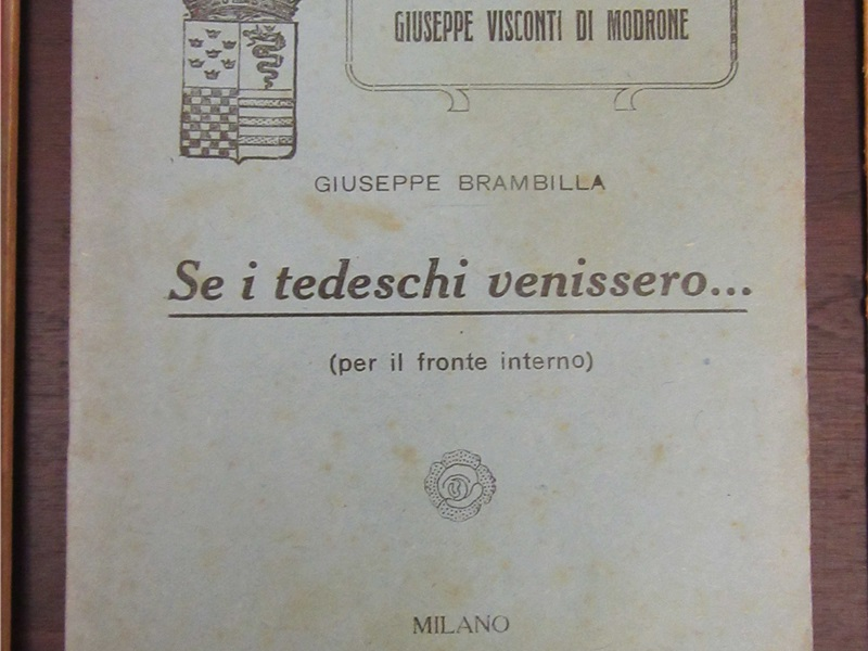 Libretto di propaganda 'Se i tedeschi venissero...', 1917