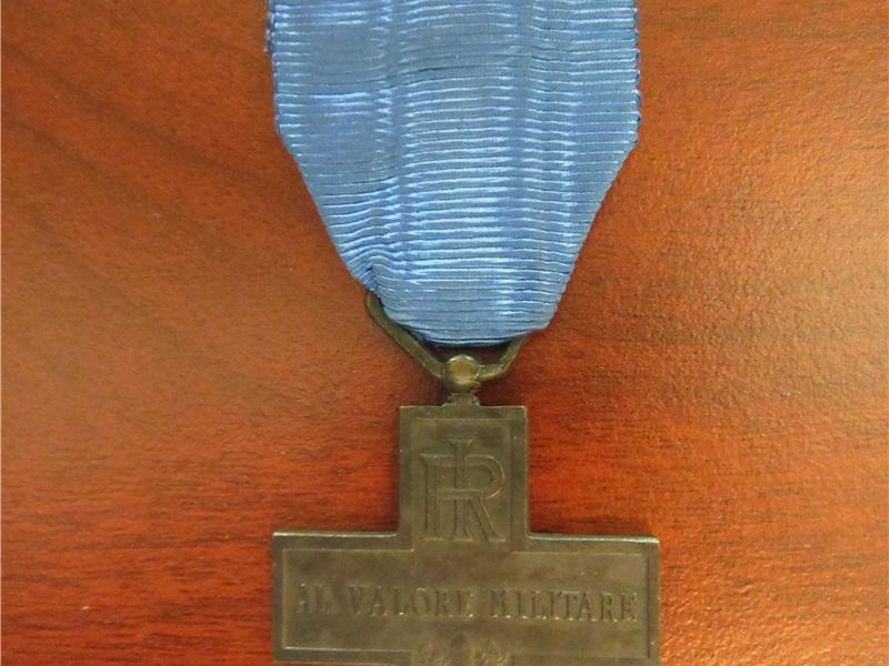 Medaglia al Valor Militare del soldato Pietro Ghezzi