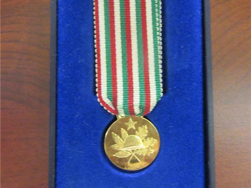 Medaglia 50° anniversario della vittoria 1918 - 1968 del soldato Pietro Ghezzi