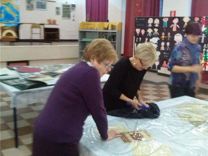 Preparazione della mostra