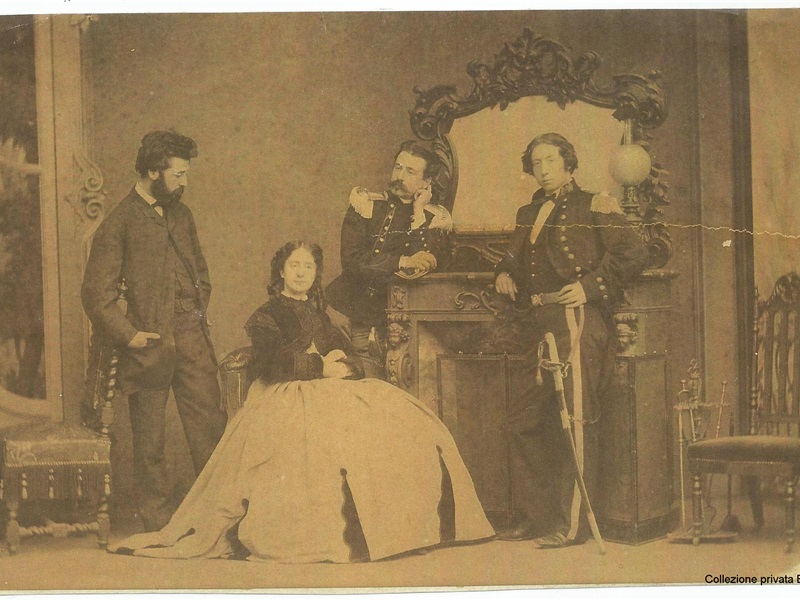 Alessandro, Margherita, Antonio e Giulio, fratelli Trotti Bentivoglio, 1865