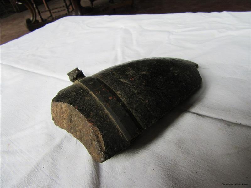 Fondello di proietto per granata o shrapnel non identificabile