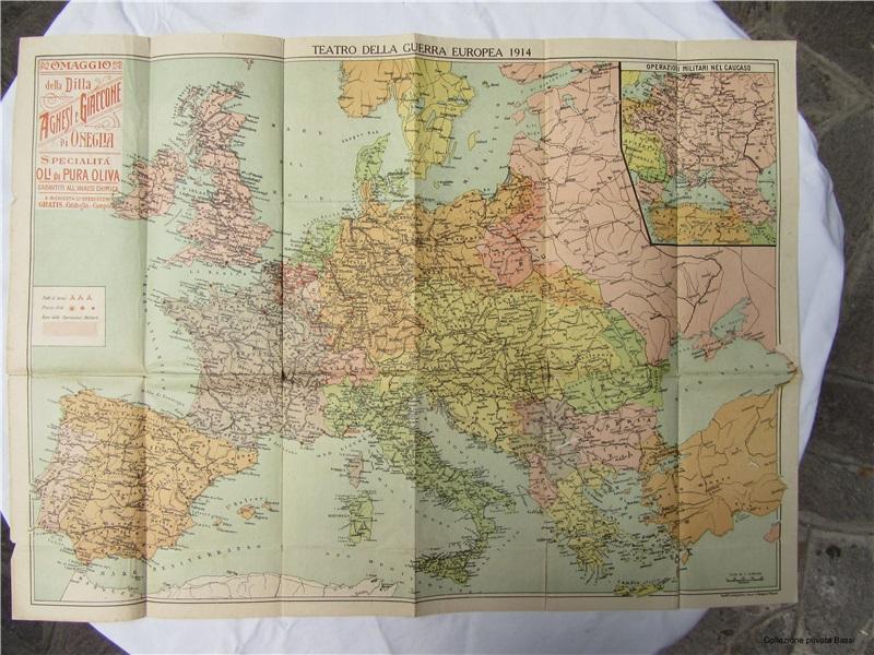 Mappa 'Teatro della Guerra Europea 1914'