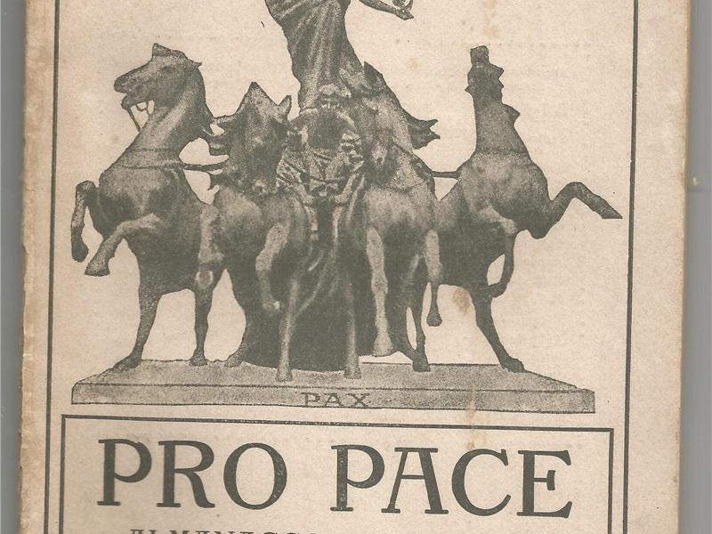 Libretto di propaganda 'Pro Pace', 1916